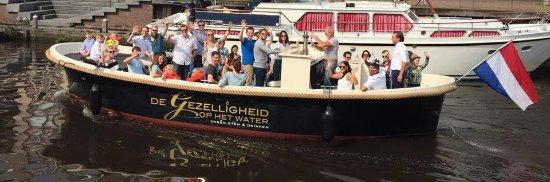 Leusden, Nederland: EVERETT personeelsfeest op het water