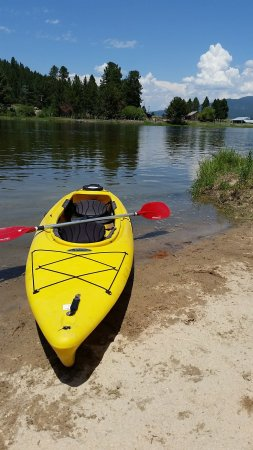 Cascade, ID: Free use of our kayaks and canoes on the flatwater of the Payette River along our park.