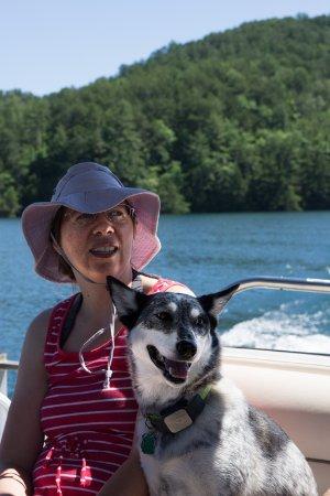 Salem, SC: Mica and passenger on Lake Jocassee