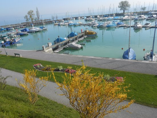 Romanshorn, Schweiz: O parque está na beira do Lago Constance.
