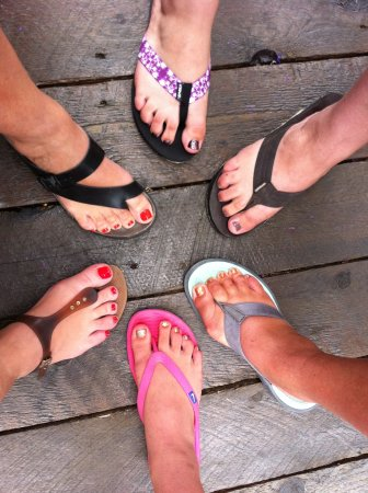 Sechelt, Kanada: Toes and Toes