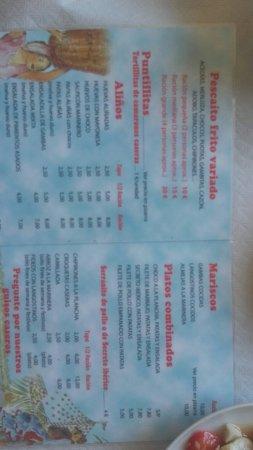 Bar Restaurante El Colorao : July 2016 tapas y carta