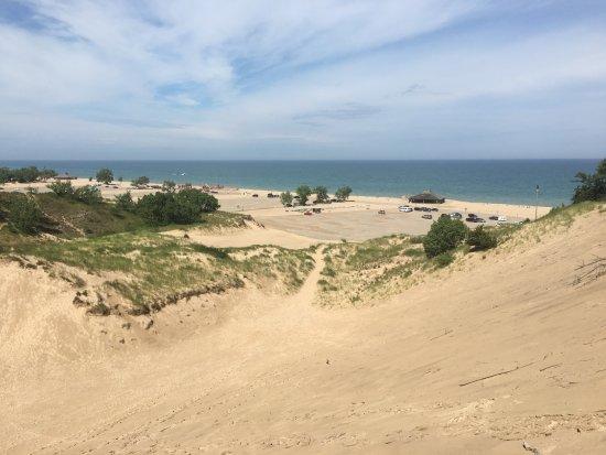 Bridgman, MI: Beautiful views of Lake Michigan at the top of Warren Dunes