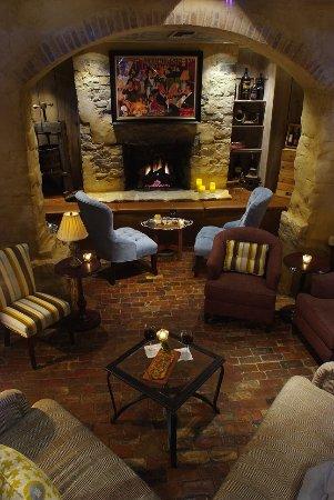 Lambertville, NJ: Wine Cellar with Cozy Fireplace