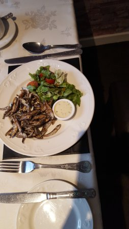 Lowick, UK: fried whitebait