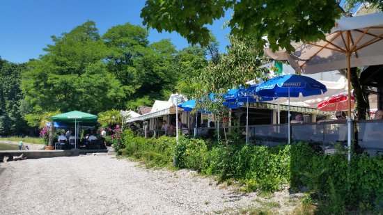"Rolle, Zwitserland: The beautiful terrasse ""on the beach"""