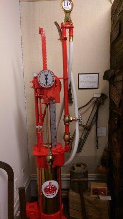 Eureka, NV: Indoor gas pump