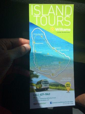 Saint Andrew Parish, บาร์เบโดส: Folheto da Island Tours
