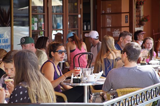 Bonjour Cafe: A spacious patio to enjoy great food and relax with friends