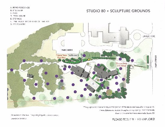 Old Lyme, CT: Map of the sculpture grounds