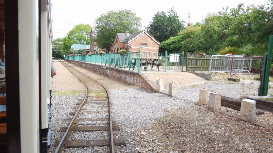 Seaton, UK: End of the line - Colyton station, with a cafe