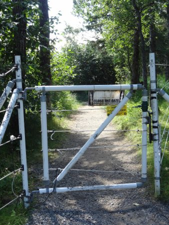 One of 3 gates into campground