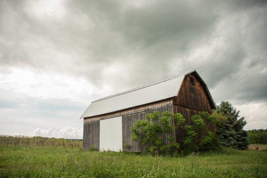 Branchport, estado de Nueva York: The original barn.