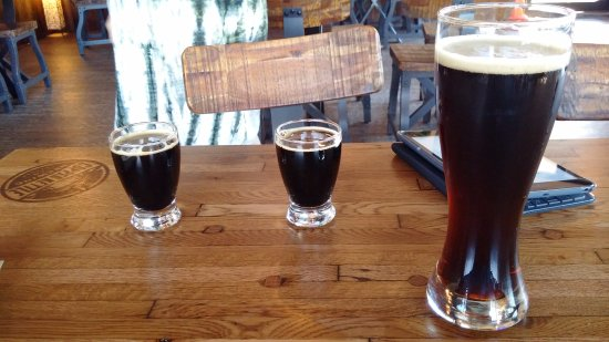 Copper Kettle Brewing Co: Samples of both the stouts on tap.