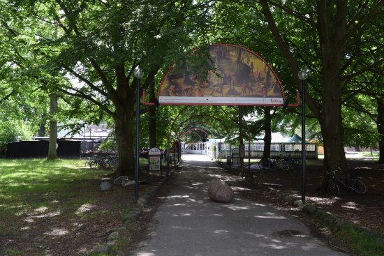 Bakken - World's Oldest Amusement Park: One of the history signs throughout