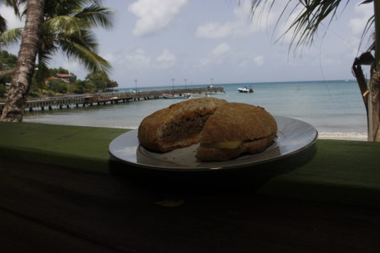 Laborie, St. Lucia: Don't you just love a view when you eat?