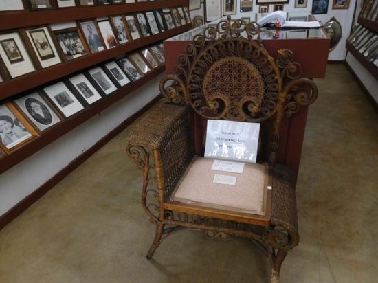 Galax, VA: Chair for a soldier with a sword