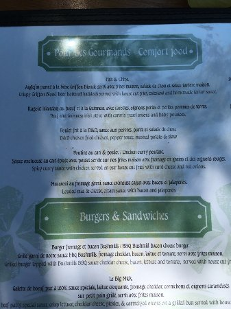 Beaconsfield, Canadá: Menu was great