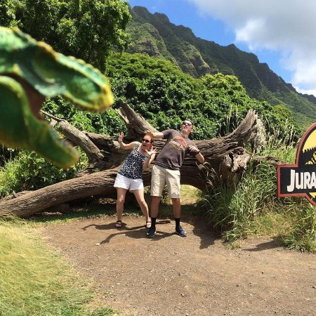 Kaneohe, Hawái: Our re-enacted Jurassic park scene