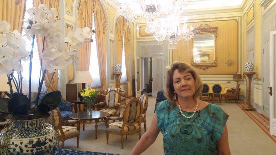 Hotel Avenida Palace: Salão do 2º andar à caminho do café