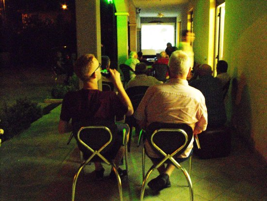 Castello delle Forme, İtalya: Watching the final of Euro 2016.