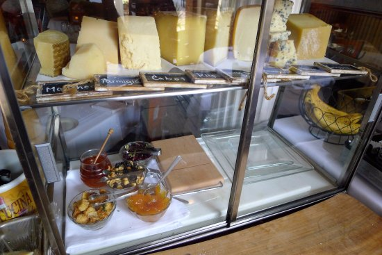 Freehold, NJ: Display of artisanal and imported cheeses
