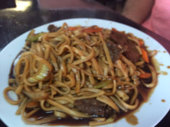 Sand Springs, Οκλαχόμα: The general tso's chicken, real white meat.  So delicious!!  Beef lo mein was excellent.  Wonton