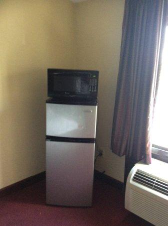 West Greenwich, Rhode Island: Micro fridge in room.