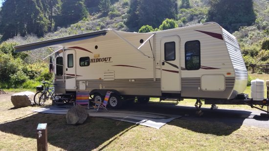 Plaskett Creek Campground: Site #12, Can fit truck and trailer