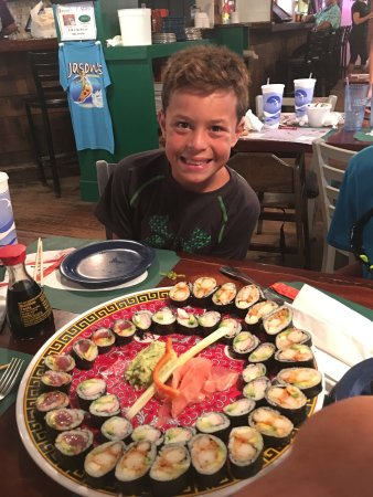 Jason's: Tonight we had the sushi and it was great! It's only offered on Tuesdays after 5PM and get there