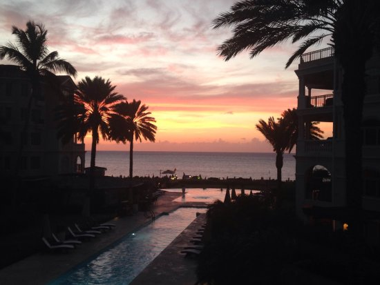 The Somerset on Grace Bay: Sunset from our oceanview villa's porch