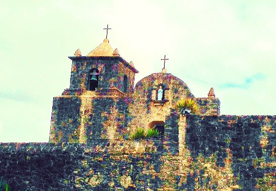 Mission La Bahia in Goliad, Texas