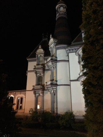 Batcheller Mansion Inn: Outside view- well lit exterior