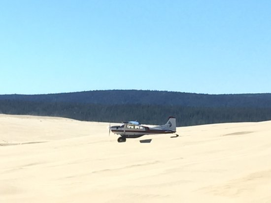 Kotzebue, AK: Our plane - looking a bit small surrounded by the dunes