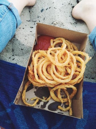 Liam's: Onion rings on the beach
