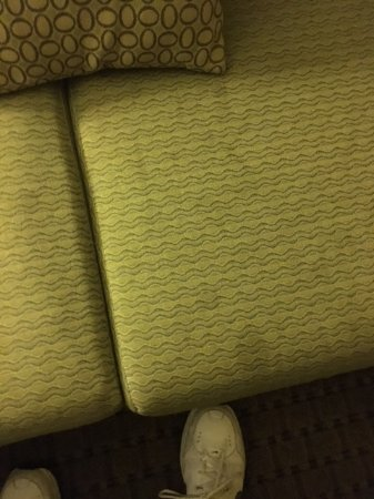 Holiday Inn & Suites Rogers - Pinnacle Hills: stained sofa