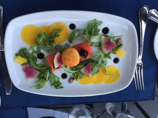 Pender Island, Canada: beet & watermelon salad - seeds and all