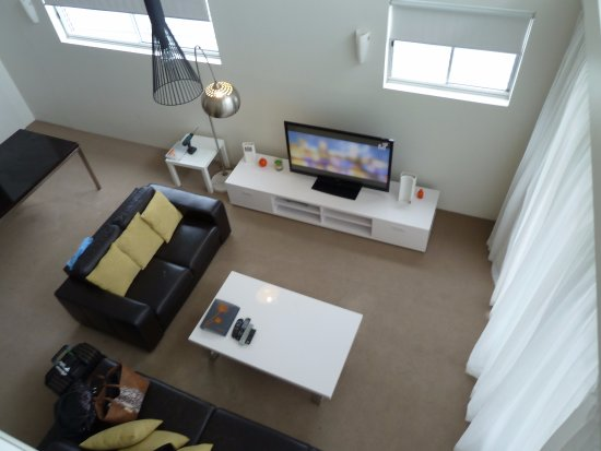 Oxygen Apartments: view from upstairs bedroom