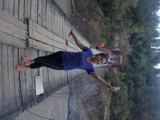 Cascada de las Animas: Puente colgante