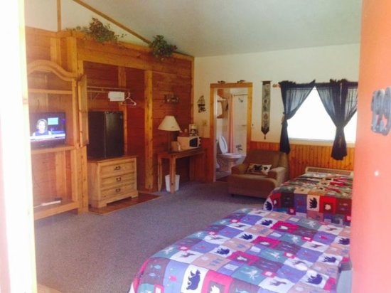 Our room at Smoky Falls Lodge