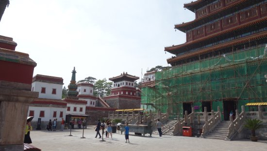 Weichang County, China: A palace under construction