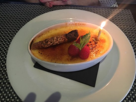 Glendale, WI: Chocolate cake, creme brûlée, crab cakes and lobster tail