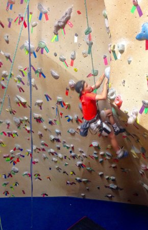 Golden, Kanada: Kids love the climbing gym