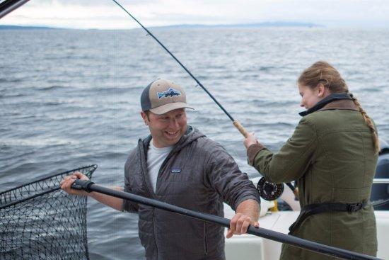 แคมป์เบลล์ริเวอร์, แคนาดา: Curtis making sure the fish ends up in the boat
