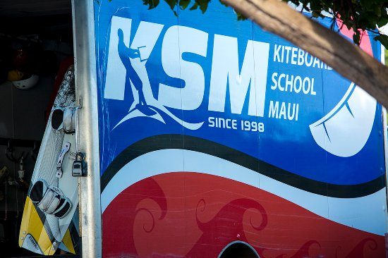 Kiteboarding School of Maui: Look for the KSM van down at Kite Beach. Best place to learn kiteboarding on Maui!
