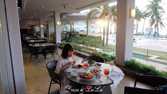 Fiesta Resort Guam: 夕陽晚餐