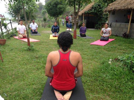 Kirtipur, Népal: Yoga class -  Shree yoga retreat in Nepal for wellness & inner awesome.