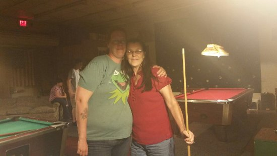 Enterprise, AL: Me and momma bear having fun at K-O billiards. If ur ever that way its the best place to take a