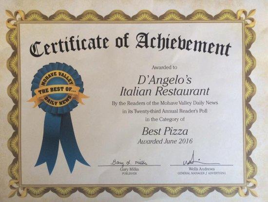 Bullhead City, AZ: Voted Best Pizza 2016