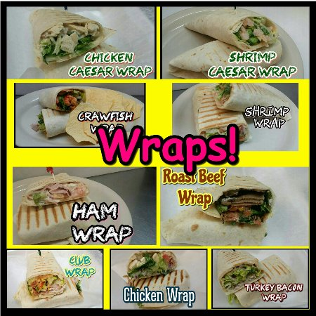 Scott, Λουιζιάνα: Lighter menu options include wraps!